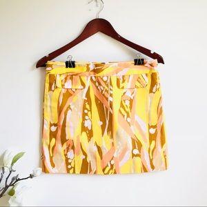 J. Crew Printed linen summer mini skirt